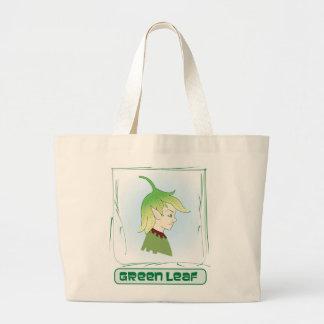 Green Glen-  Green Leaf Jumbo Tote Bag