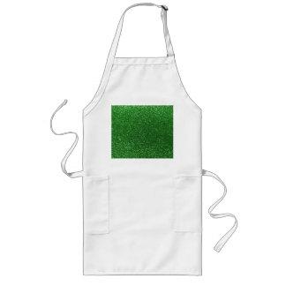 Green glitter apron