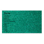 Green Glitter Double-Sided Standard Business Cards (Pack Of 100)