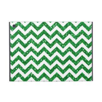 Green Glitter Chevron Pattern iPad Mini Cover