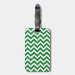 Green Glitter Chevron Pattern Tag For Bags
