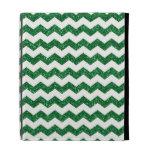 Green glitter chevrons iPad folio cover