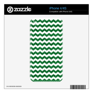 Green glitter chevrons iPhone 4S decals