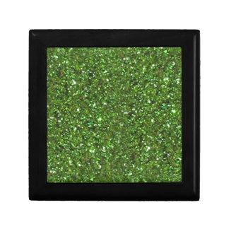GREEN GLITTER CHRISTMAS GIFT BOX