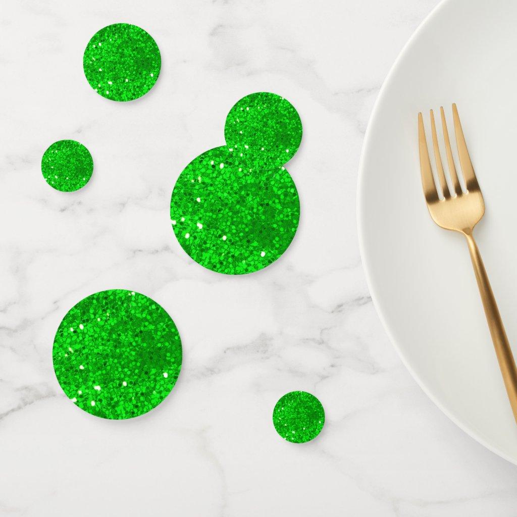 Green Glitter Confetti