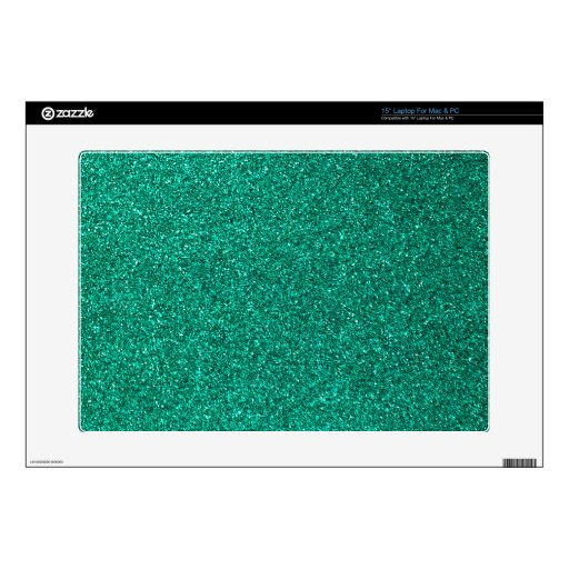 """Green Glitter Decal For 15"""" Laptop"""
