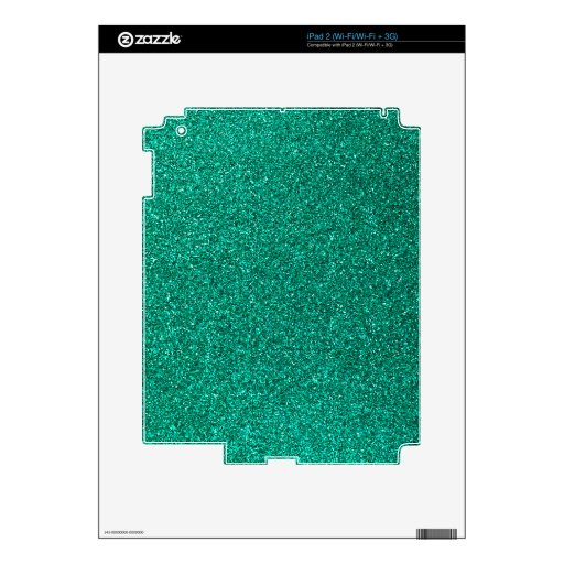 Green Glitter iPad 2 Skins