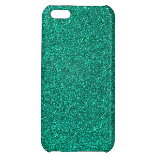 Green Glitter Cover For iPhone 5C