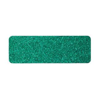 Green Glitter Return Address Labels