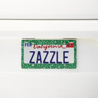 Green Glitter License Plate Frame