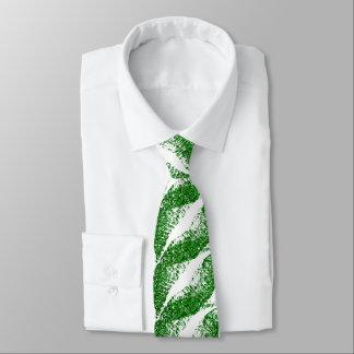 Green Glitter Lips Neck Tie
