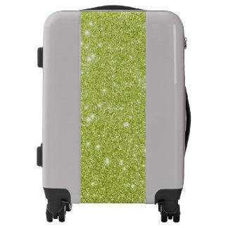 Green Glitter Luggage