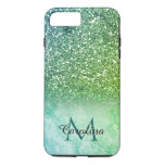 Green Glitter, Marble, Personalized iPhone 8 Plus/7 Plus Case