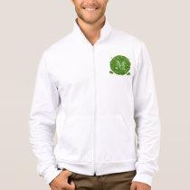 Green Glitter Mustache Pattern Your Monogram Jacket