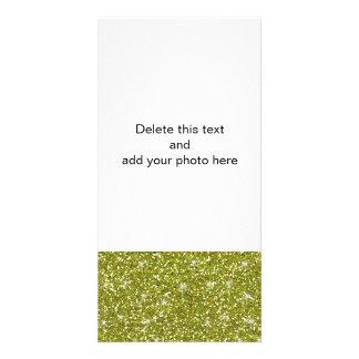 Green Glitter Printed Card