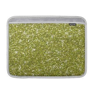 Green Glitter Printed MacBook Sleeve