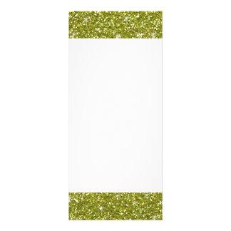 Green Glitter Printed Full Color Rack Card