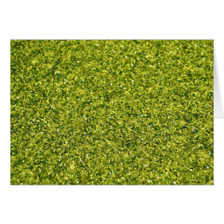 GREEN GLITTER PRODUCTS for HOLIDAYS or Any Day! Card