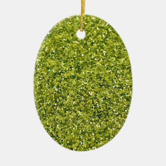 GREEN GLITTER PRODUCTS for HOLIDAYS or Any Day! Ceramic Ornament