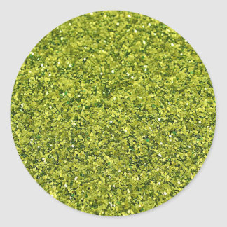 GREEN GLITTER PRODUCTS for HOLIDAYS or Any Day! Classic Round Sticker