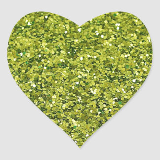 GREEN GLITTER PRODUCTS for HOLIDAYS or Any Day! Heart Sticker