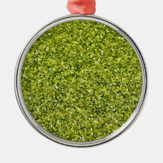 GREEN GLITTER PRODUCTS for HOLIDAYS or Any Day! Metal Ornament