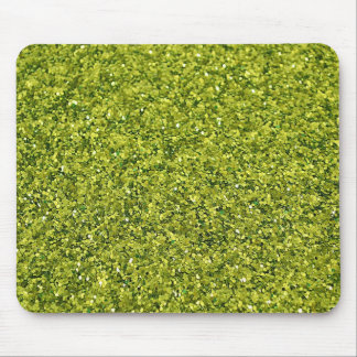 GREEN GLITTER PRODUCTS for HOLIDAYS or Any Day Mouse Pads