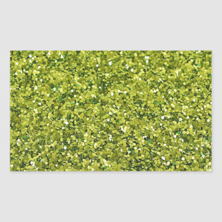 GREEN GLITTER PRODUCTS for HOLIDAYS or Any Day! Rectangular Sticker