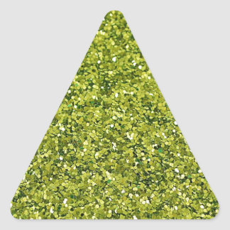 GREEN GLITTER PRODUCTS for HOLIDAYS or Any Day! Triangle Sticker