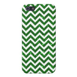 green glitter saint patricks chevron iphone 5 case