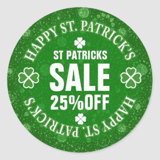 Green Glitter St Patrick's Custom Sale Sticker