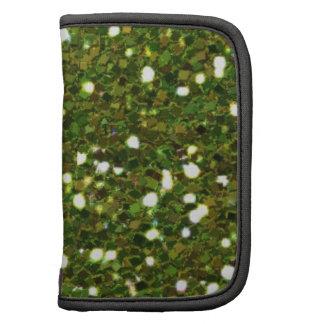 Green Glitters Folio Planner