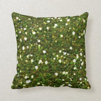 Green Glitters Pillow