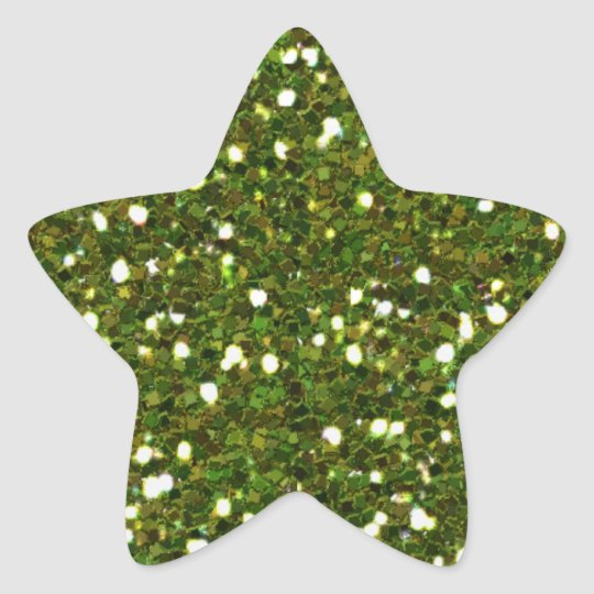 Green Glitters Sticker
