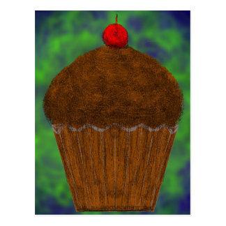 Green glob cup cake postcard