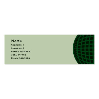 Green Global Business Double-Sided Mini Business Cards (Pack Of 20)