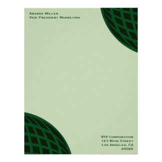 Green Global Business Letterhead