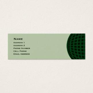 Green Global Business Mini Business Card
