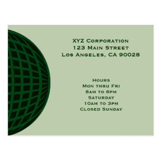 Green Global Business Postcards