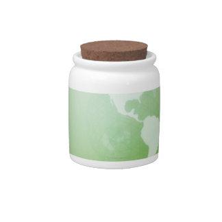 Green Globe Candy Jar