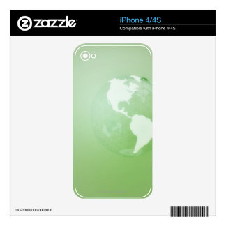 Green Globe Decals For The iPhone 4S