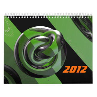Green & glossy calendars