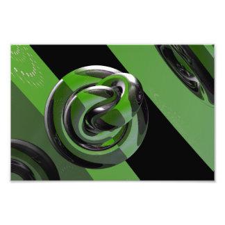 Green glossy photograph