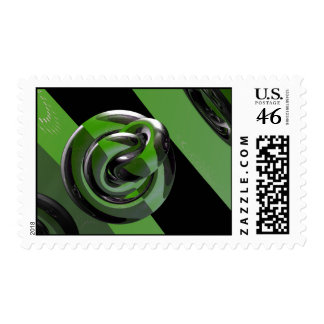 Green & glossy postage stamps