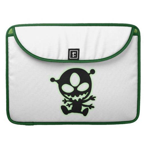 Green Glow Alien MacBook Pro Sleeves