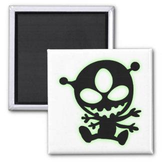 Green Glow Alien Magnet
