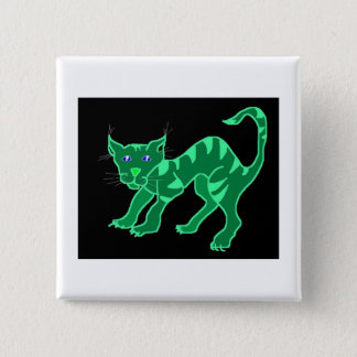 Green Glow Cheshie by Wendy C. Allen Pinback Button