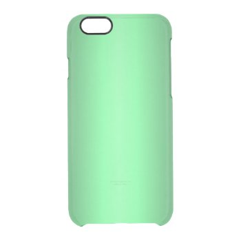 Green Glow Clear iPhone 6/6S Case