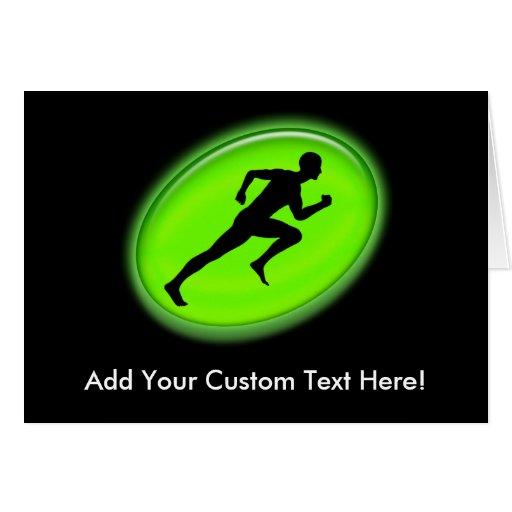 Green Glow Fitness and Personal Training Logo Greeting Card