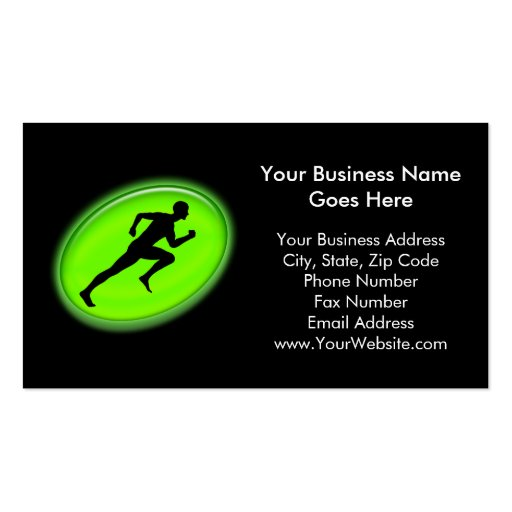 Green Glow Fitness and Personal Training Logo Double-Sided Standard Business Cards (Pack Of 100)